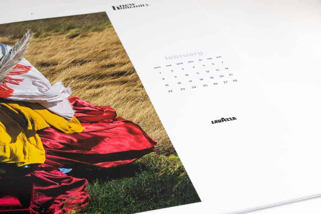 close up 2021 LavAzza calendar